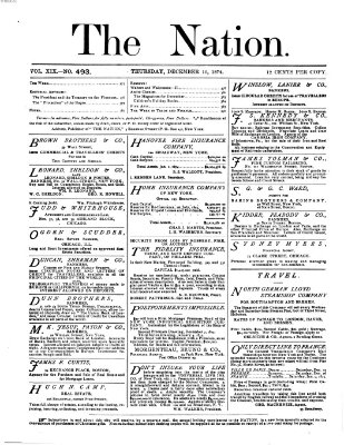 The nation Donnerstag 10. Dezember 1874