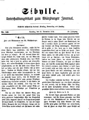 Sibylle (Würzburger Journal) Samstag 21. November 1874
