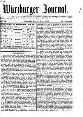 Würzburger Journal Donnerstag 15. April 1875