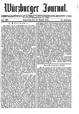 Würzburger Journal Donnerstag 19. August 1875