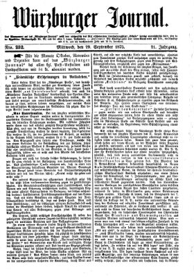 Würzburger Journal Mittwoch 29. September 1875