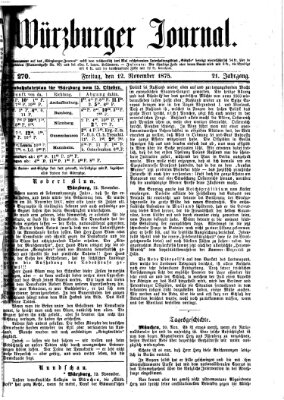 Würzburger Journal Freitag 12. November 1875