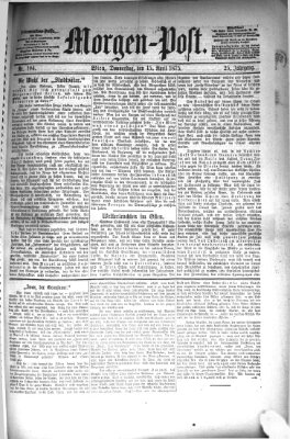 Morgenpost Donnerstag 15. April 1875