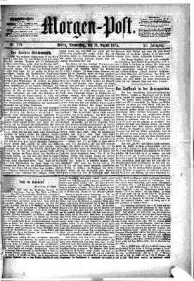 Morgenpost Donnerstag 19. August 1875