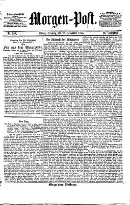Morgenpost Sonntag 19. September 1875