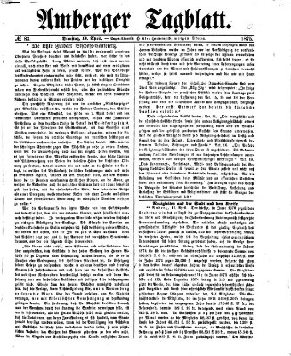Amberger Tagblatt Dienstag 13. April 1875