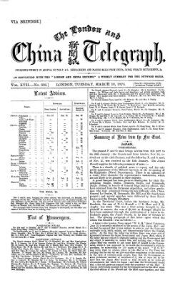 The London and China telegraph Dienstag 16. März 1875