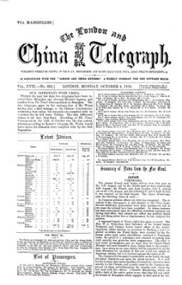 The London and China telegraph Montag 4. Oktober 1875