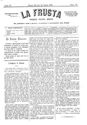 La frusta Dienstag 13. April 1875