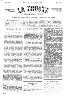 La frusta Donnerstag 15. April 1875