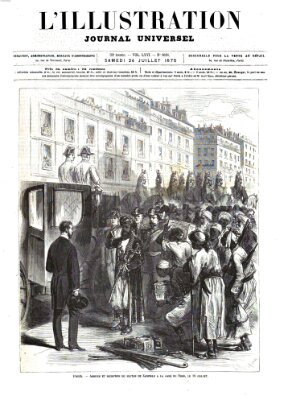 L' illustration Samstag 24. Juli 1875