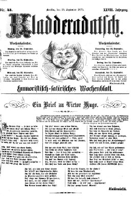 Kladderadatsch Sonntag 19. September 1875