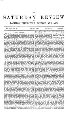 Saturday review Samstag 24. Juli 1875