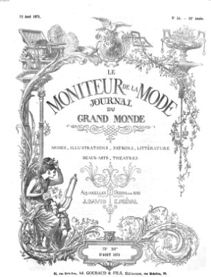 Le Moniteur de la mode Sonntag 22. August 1875