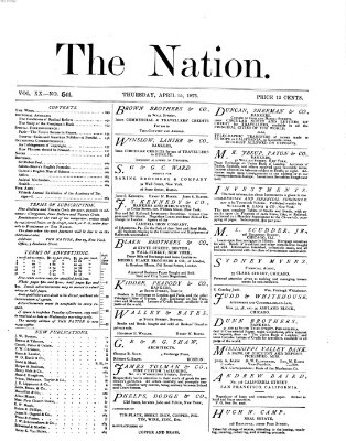 The nation Donnerstag 15. April 1875