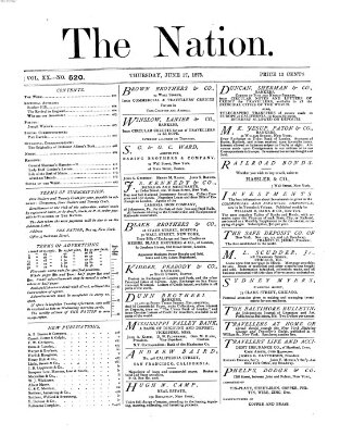 The nation Donnerstag 17. Juni 1875