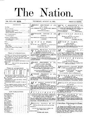 The nation Donnerstag 19. August 1875