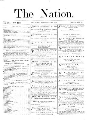 The nation Donnerstag 16. September 1875