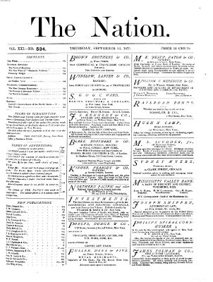 The nation Donnerstag 23. September 1875