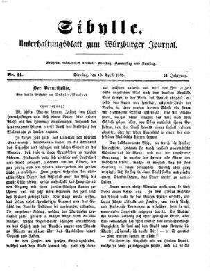 Sibylle (Würzburger Journal) Dienstag 13. April 1875