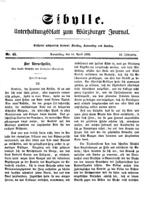 Sibylle (Würzburger Journal) Donnerstag 15. April 1875
