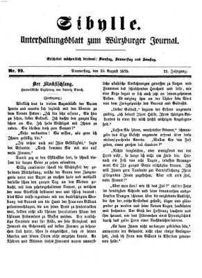 Sibylle (Würzburger Journal) Donnerstag 19. August 1875