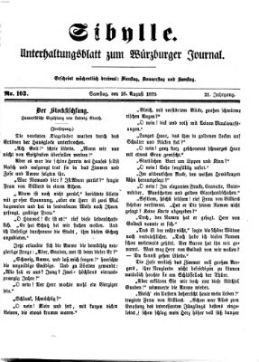 Sibylle (Würzburger Journal) Samstag 28. August 1875