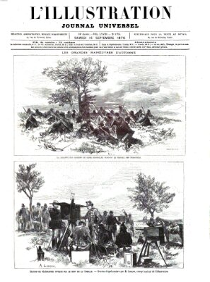 L' illustration Samstag 16. September 1876