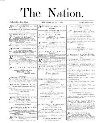 The nation Donnerstag 1. Juni 1876