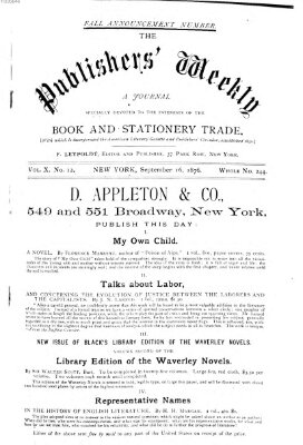 Publishers' weekly Samstag 16. September 1876