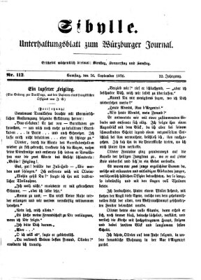 Sibylle (Würzburger Journal) Samstag 16. September 1876