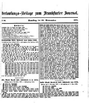 Frankfurter Journal Samstag 24. November 1877