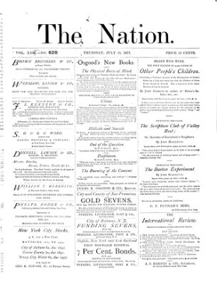 The nation Donnerstag 12. Juli 1877