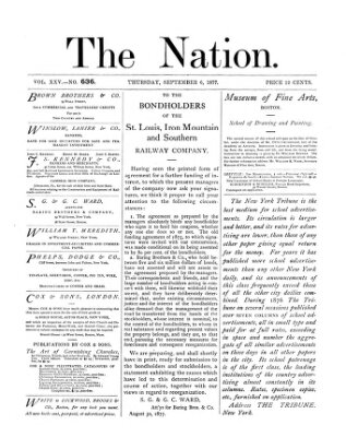 The nation Donnerstag 6. September 1877
